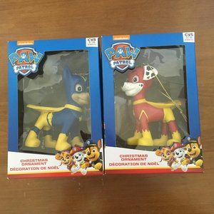 NWT-  Set of 2 Paw Patrol Ornaments